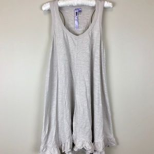 {WILT} gray/cream racerback flowy tunic dress • S